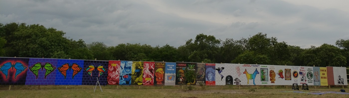 welcome wall in south texas